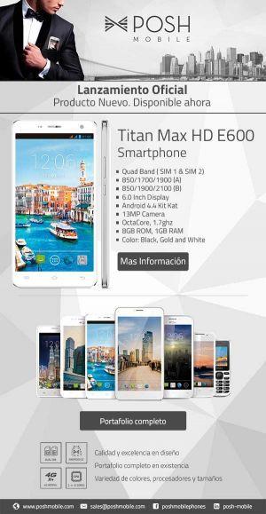 Posh Titan Max HD E600