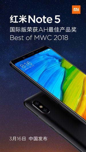 Xiaomi Redmi Note 5 (China)